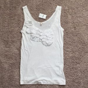 White JCrew tank with details
